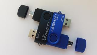 Новая Флешка 32Gb, USB + microusb (OTG)